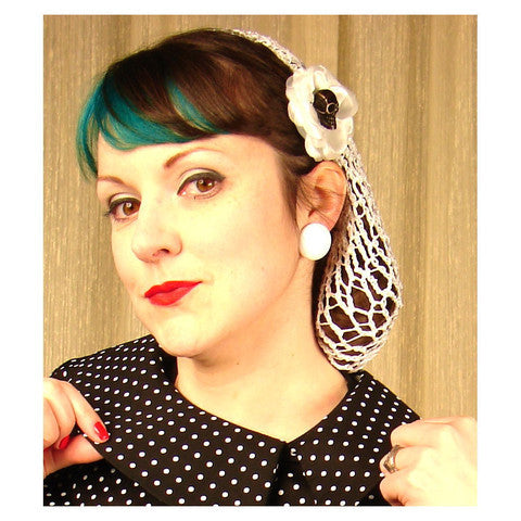 Sky Blue Hair Net Snood by Viva Dulce Marina : Cats Like Us