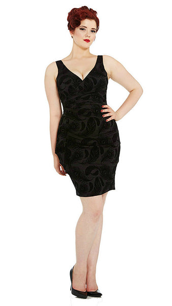 Amanda Feather Wiggle Dress by VooDoo Vixen - Cats Like Us