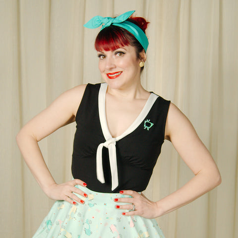 Black Nelly Sailor Top by VooDoo Vixen : Cats Like Us