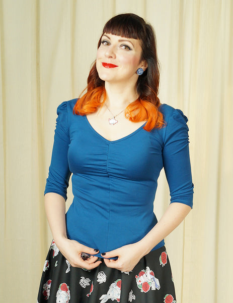Blue Von Teese Knit Top by VooDoo Vixen : Cats Like Us