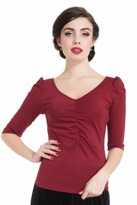 Burgundy Von Teese Knit Top - Cats Like Us