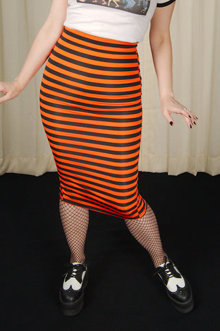 Creepy Striped Pencil Skirt