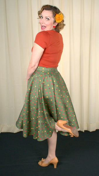 Desiree Polka Dot Swing Skirt