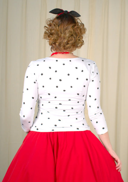 DeVil Polka Dot Scoop Top