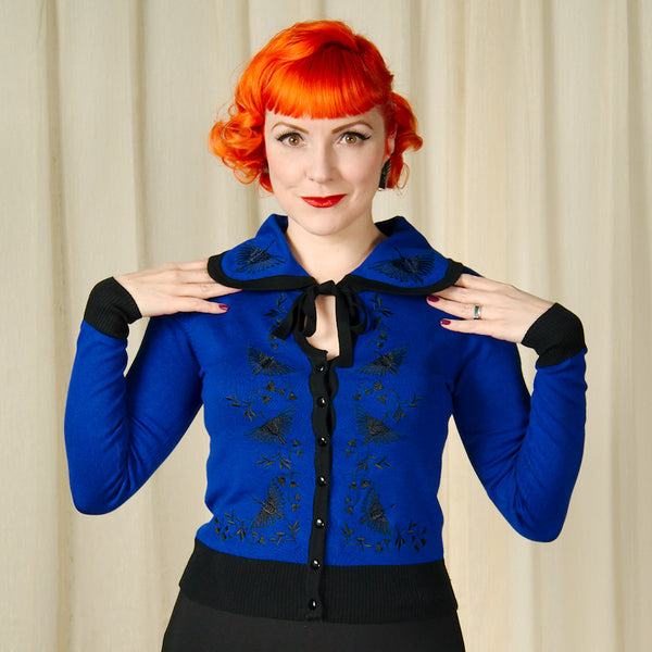 Edwina Blue Swan Deco Cardigan by VooDoo Vixen : Cats Like Us