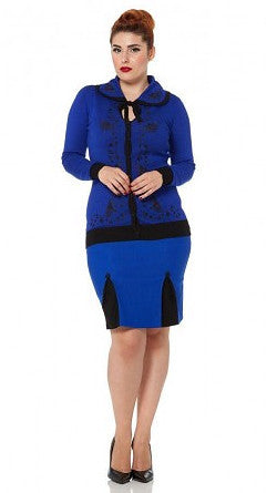 Edwina Blue Swan Deco Cardigan - Cats Like Us
