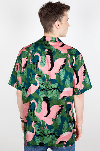 Flamingo Tiki Shirt