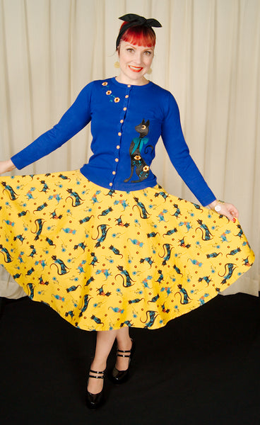 Floral Lucy Cat Skirt by VooDoo Vixen : Cats Like Us