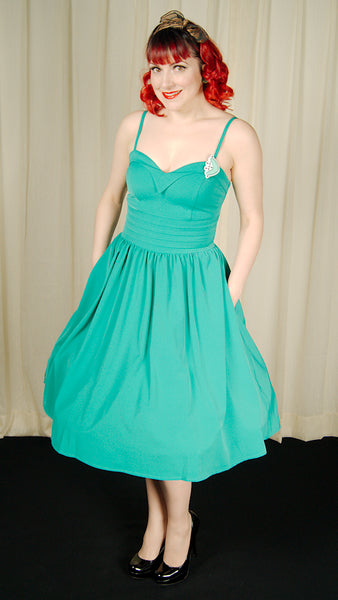 Good Graces Turquoise Dress - Cats Like Us