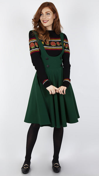 Green Overall Jumper Skirt