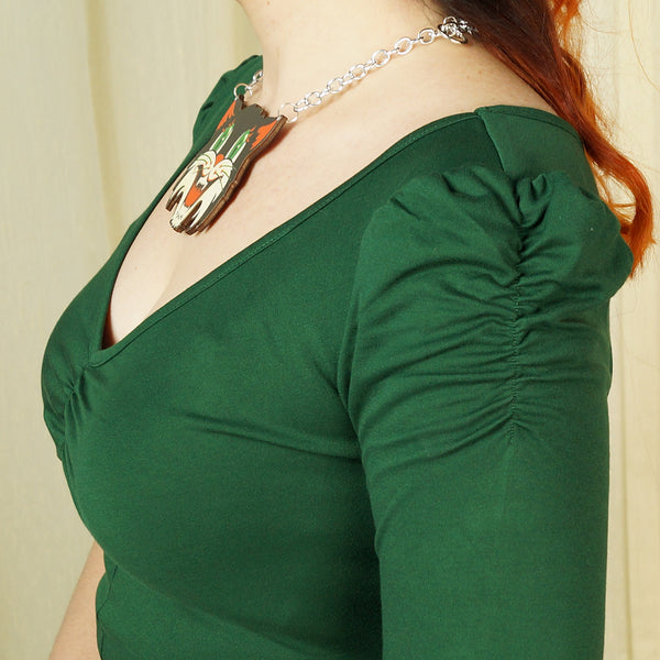Green Von Teese Knit Top by VooDoo Vixen : Cats Like Us