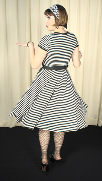 Houdini Striped Swing Dress