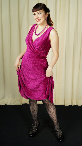 Irene Magenta Velvet Dress by VooDoo Vixen : Cats Like Us
