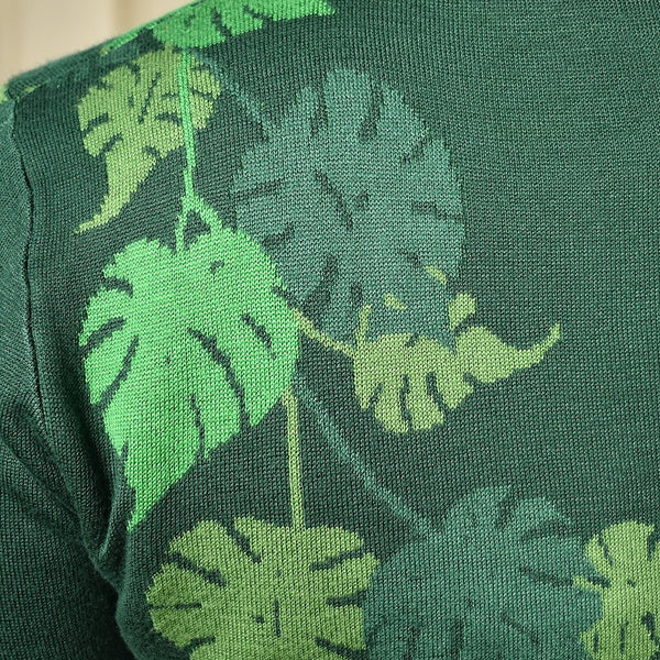 Leafy Greens Cropped Cardigan - Cats Like Us