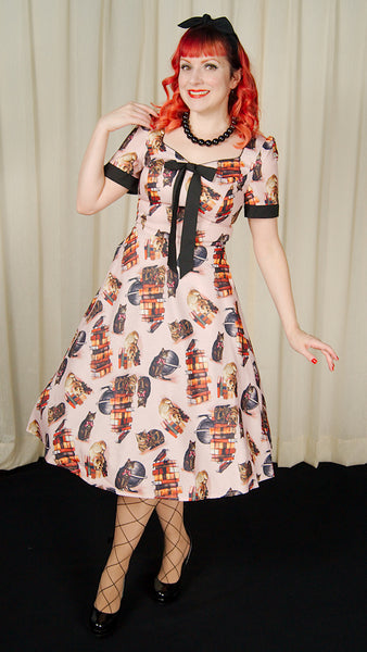 Library Cats Tea Dress