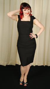 Lillian Black Pencil Dress - Cats Like Us