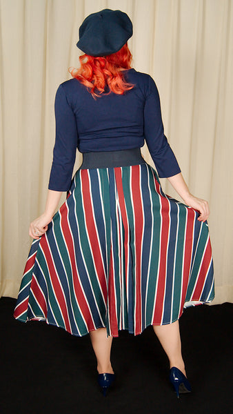 Madelyn Striped Circle Skirt by VooDoo Vixen : Cats Like Us