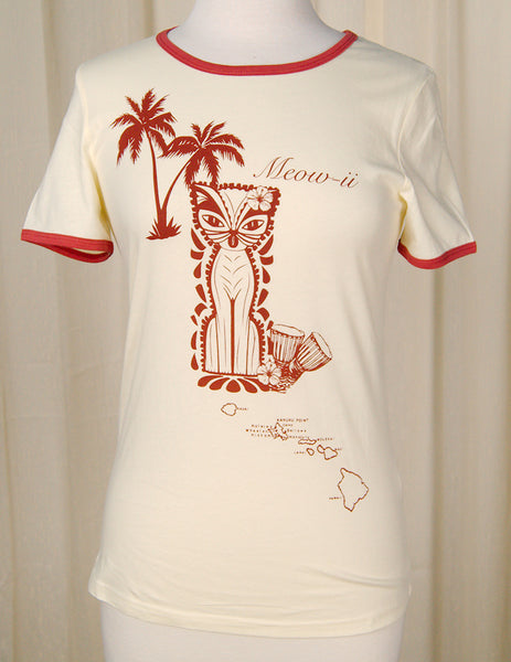 Meow-ii Tiki Cat T Shirt