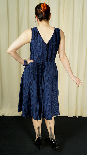 Millicent Navy Velvet Dress by VooDoo Vixen : Cats Like Us