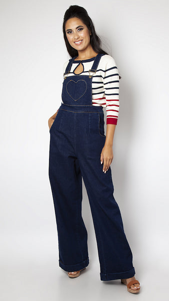 Natalia Heart Pocket Overalls