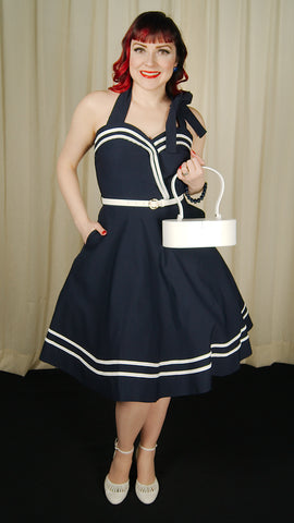 Nautical Charlotte Swing Dress - Cats Like Us