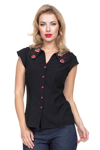 Nena Lady Bug Blouse Top - Cats Like Us