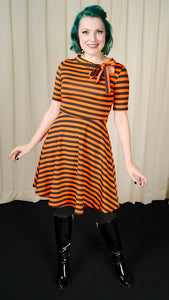 Orange & Black Striped Dress