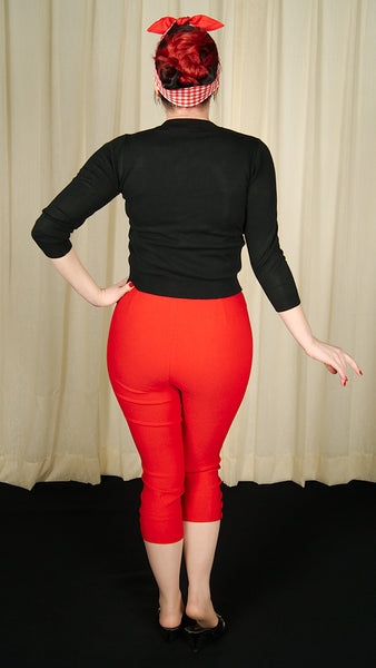 Red Holly Capri Pants by VooDoo Vixen : Cats Like Us