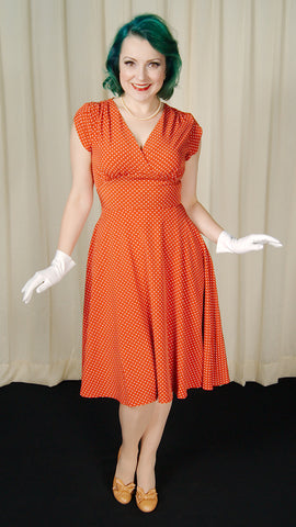 Rustie Polka Dot Swing Dress