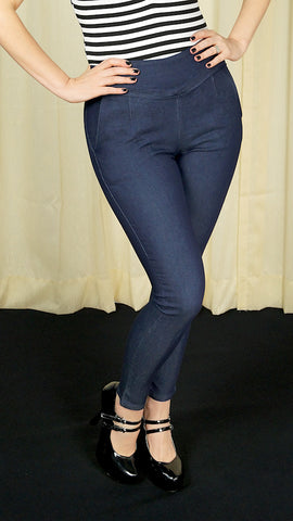 Sandy High Waisted Denim Pants by VooDoo Vixen : Cats Like Us