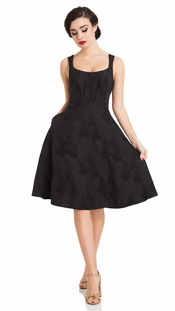Tiffany Flocked Swing Dress - Cats Like Us