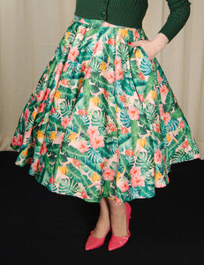 Tropical Leaf Swing Skirt - Cats Like Us