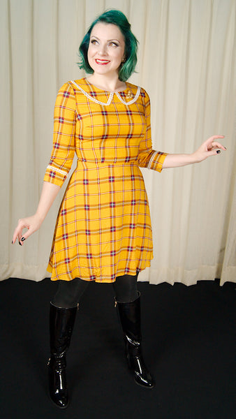 Yellow Plaid Dress