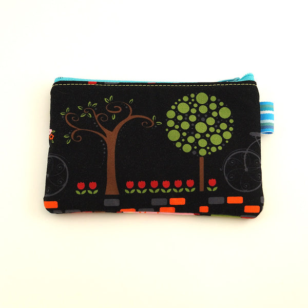Black Bicycle Change Purse - Cats Like Us