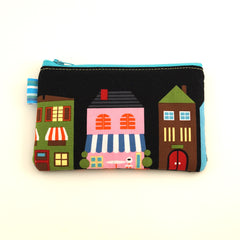 Black Bicycle Change Purse