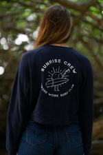 'Sunrise Crew' Crop Crewneck