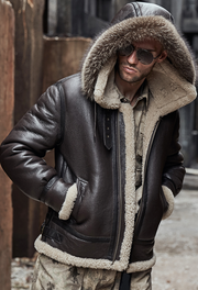 Men's Winter Fashion Long Sleeve Plush Artificial Leather Jackets