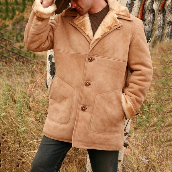 Vintage Men's Classic Sheepskin Jacket