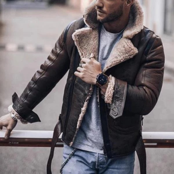 Lapel Long Sleeve Men Jackets