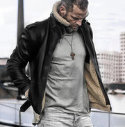 Street fold collar with black color  jacket