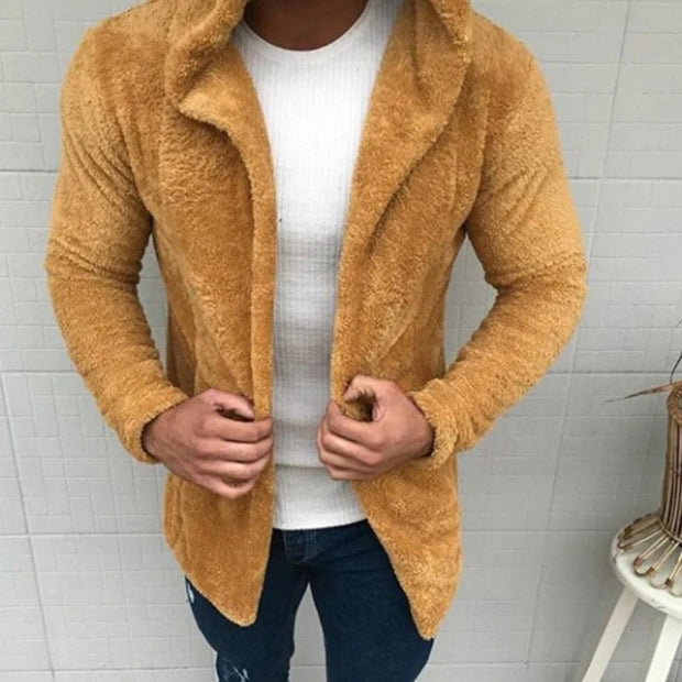 Fashion Fur Hat Cotton Solid Color Hooded  Cardigan
