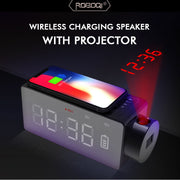 ROBOQI® Wireless Charging Bluetooth Speaker with Time Projector H1