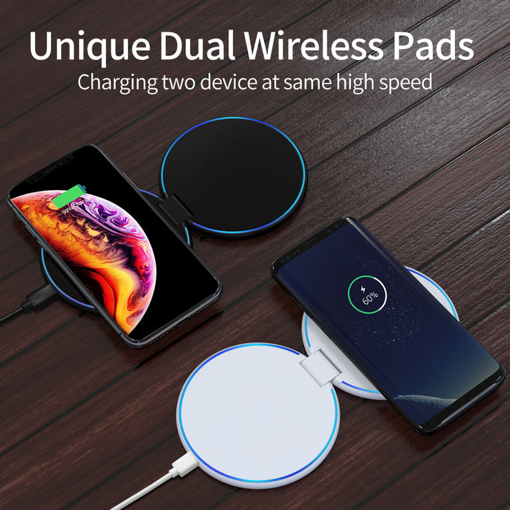 World's Best Portable Qi Wireless Charger - GeminiPad (Including PD Adapter)