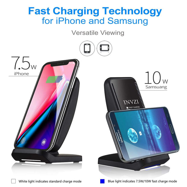 10W Qi Turbo Wireless Charger with Cooling Fan - InvisibleTech