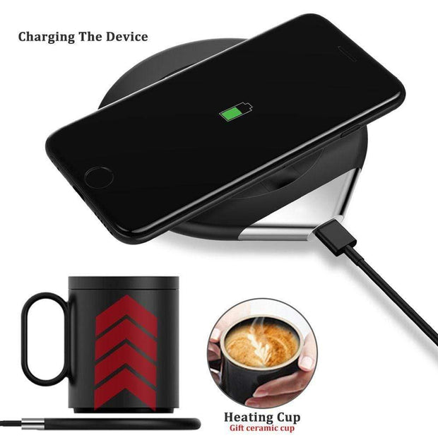 ROBOQI® Coffee Cup Warmer with wireless charging station - InvisibleTech