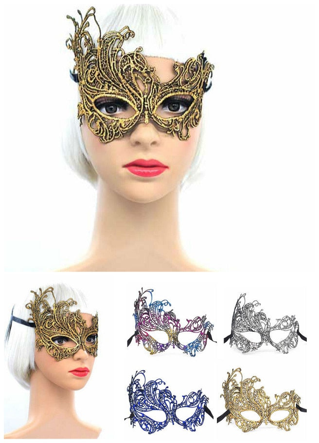 Masquerade Lace Eye Face Mask