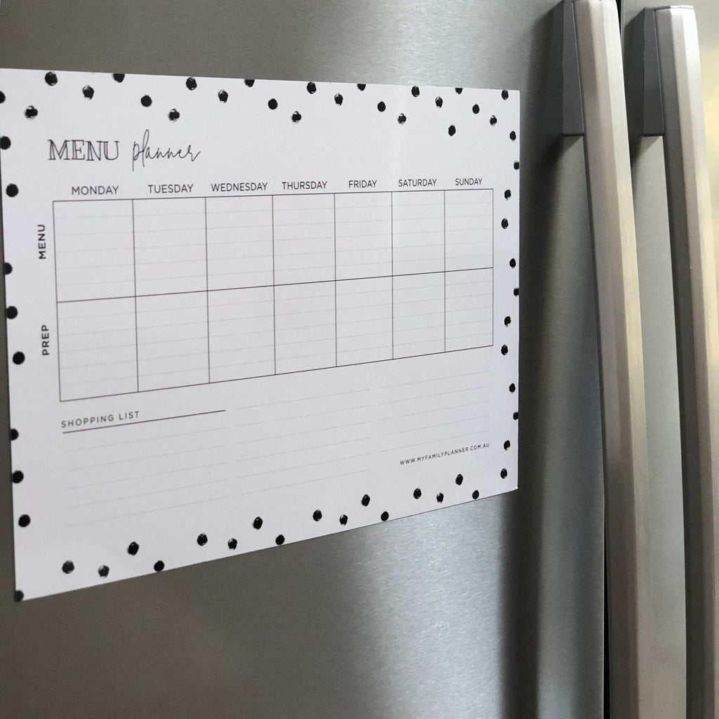 Menu Planner - Cross Design