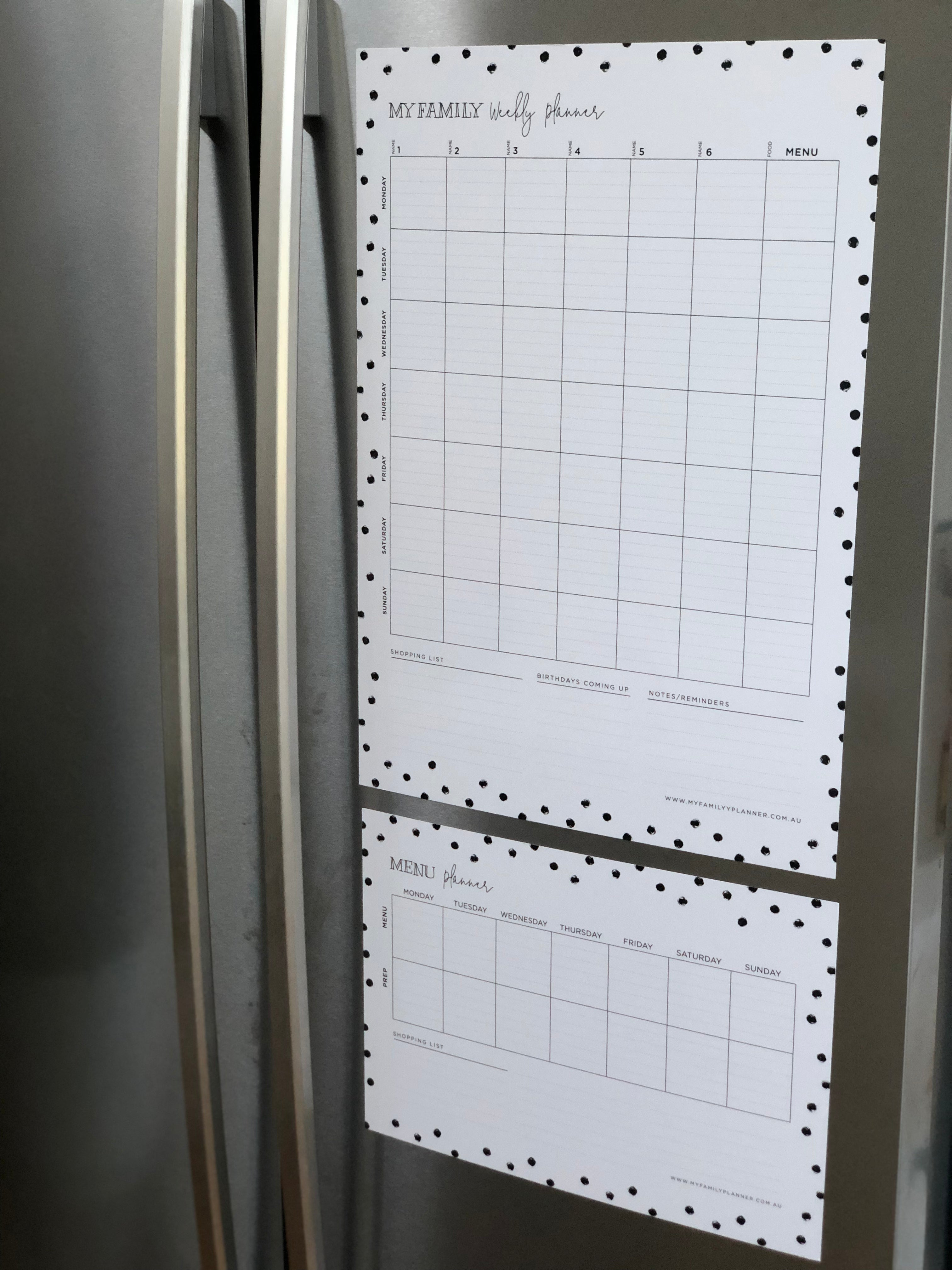 French Door Fridge Weekly Planner - Spot Design