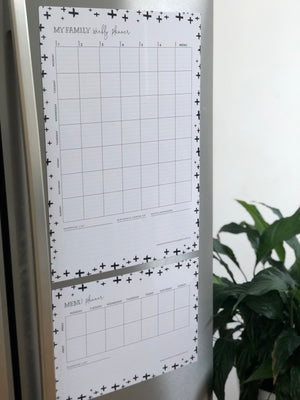 French Door Fridge Weekly Planner - Cross Design
