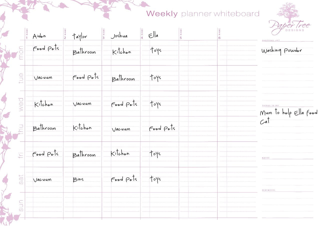 Weekly Planner - Soft Rose